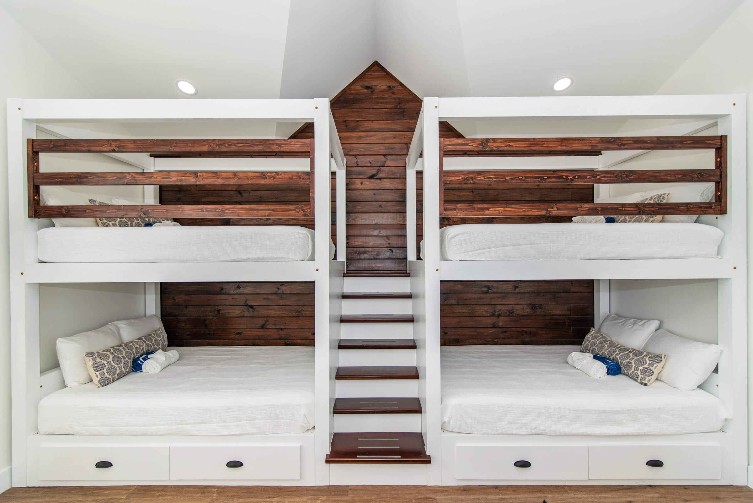 Seascape Villa Cayman Islands Grand Cayman Family Beachfront Luxury Caribbean Vacation Rental Large Master Bedrooms Kids Teens Room Bunk Beds and Bathrooms