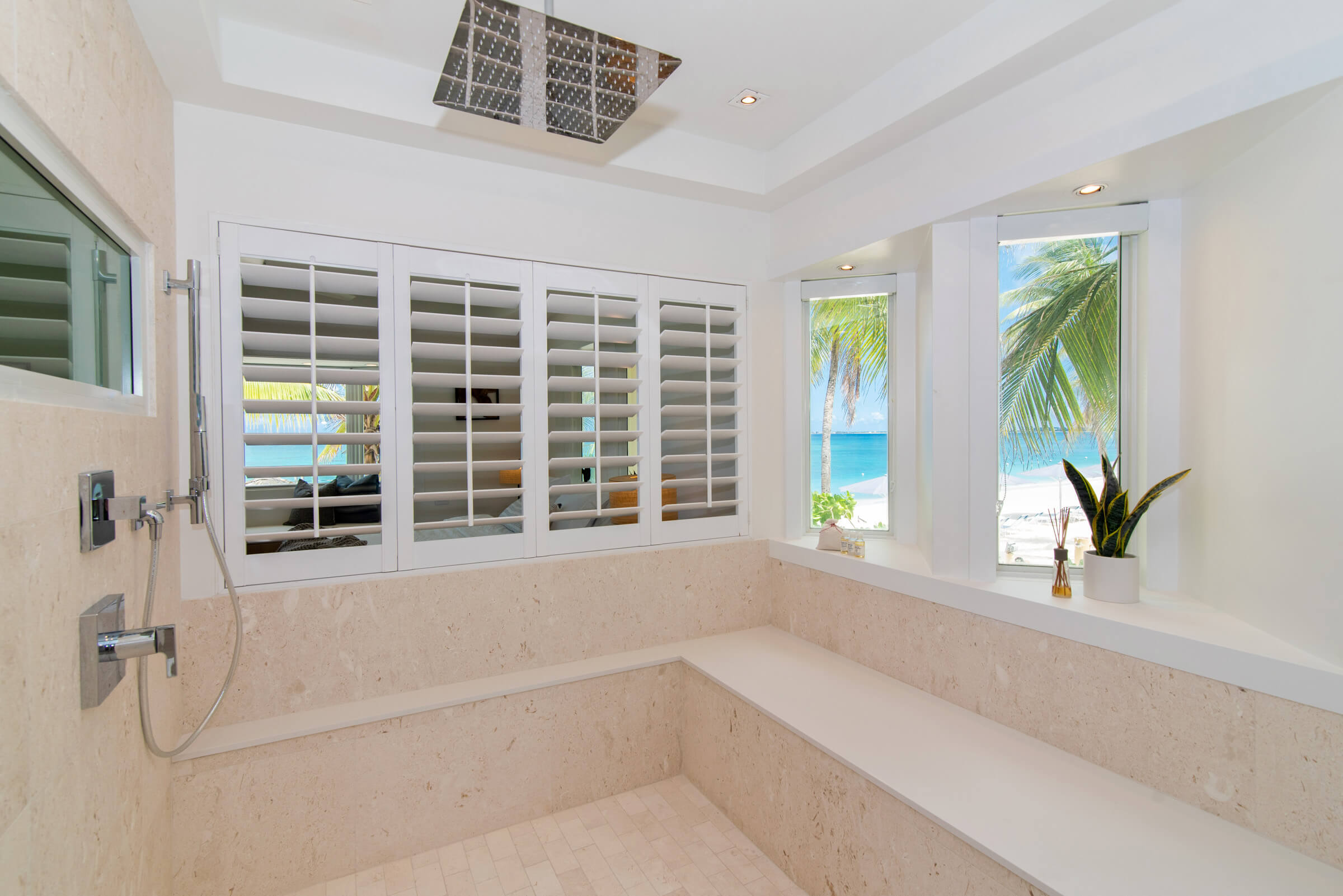 Seascape Villa Cayman Islands Grand Cayman Family Beachfront Luxury Caribbean Vacation Rental Large Master Bedrooms and Bathrooms