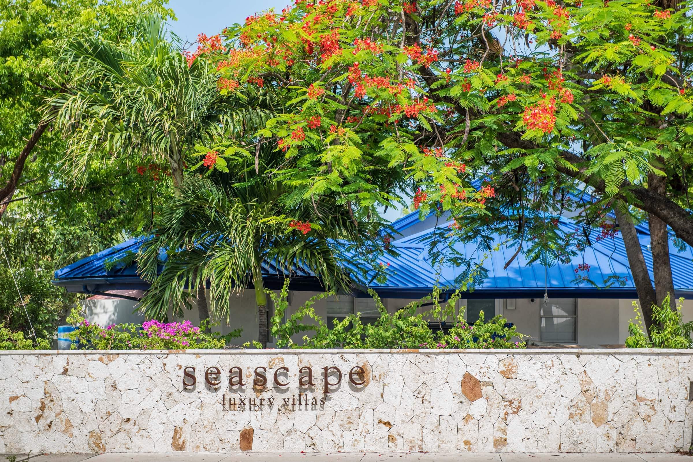 Seascape Villa Entrance Cayman Islands Caribbean Vacation Beach Home