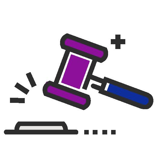 Accountability gavel icon