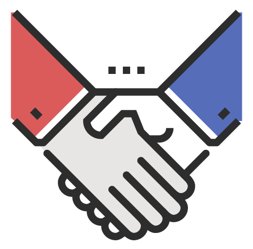 Accountability icon - hands crossing