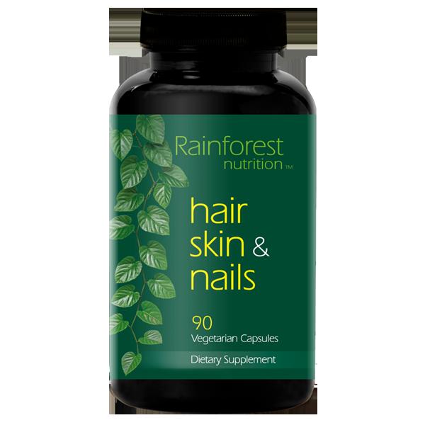 Rainforest Hair Skin Nails Bottle