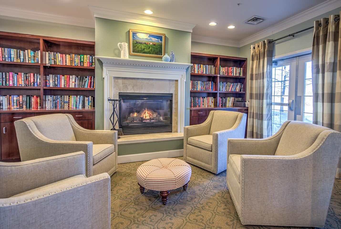 community ammenities library senior living rental communities Denver