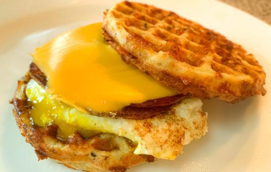 'Jersey Shore' Keto Pork Roll Egg & Cheese Chaffle