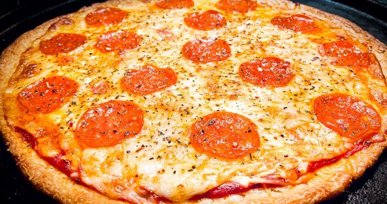 Keto FatHead Pepperoni Pizza