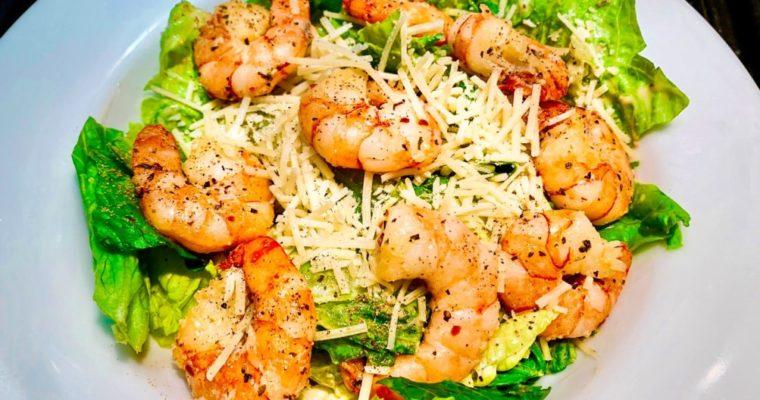 Keto Shrimp Caesar Salad