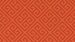 9493 Orange Greek Key - Formica