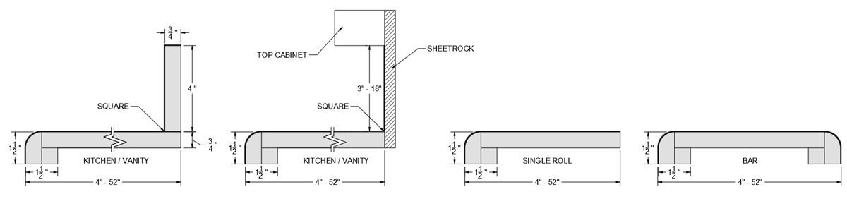 LC Tempo Kitchen, Vanity, and Bar Specs 2