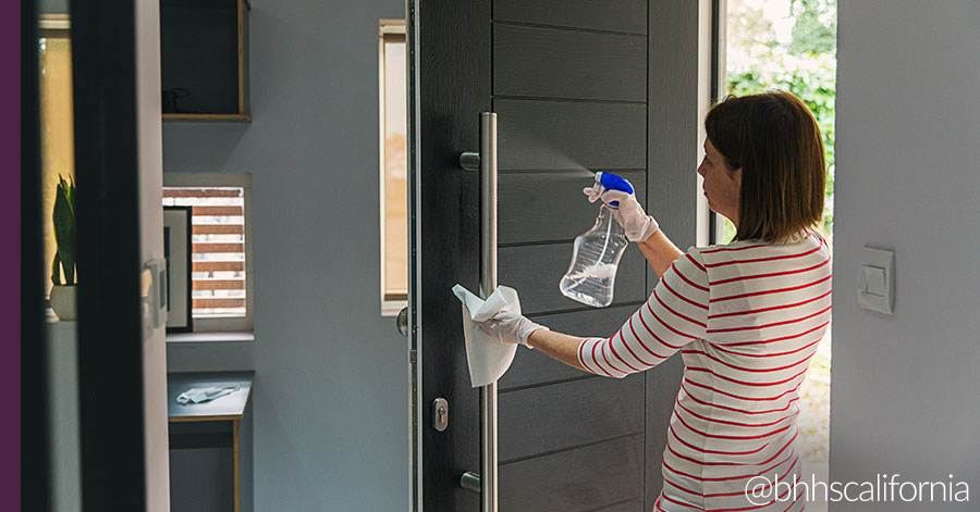 home-maintenance-cleaning-front-door-handle
