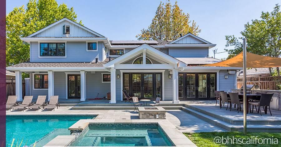 backyard of southern california house