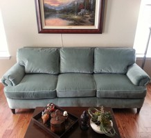 A couch after funiture reupholstery services in Pueblo, CO