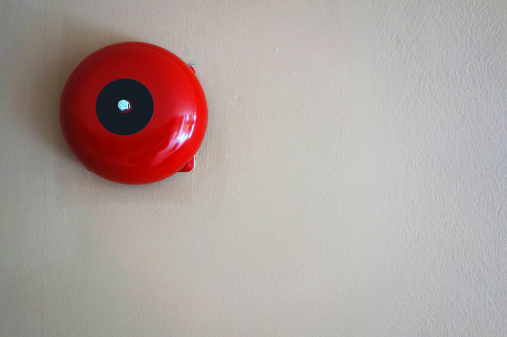 Photo of a red fire alarm