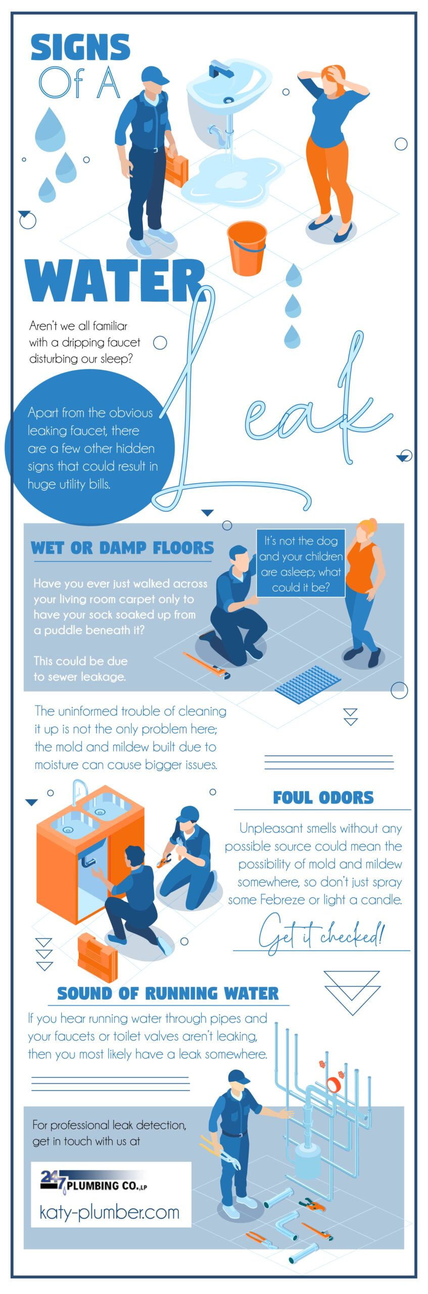 Signs Of a Water Leak - Infograph