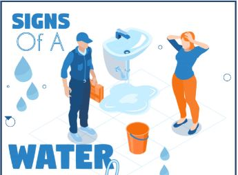 Signs Of a Water Leak – Infograph
