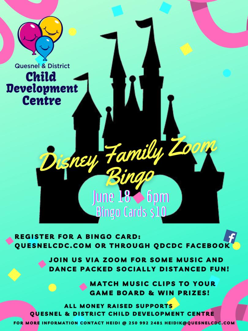 Disney Family Zoom Bingo png