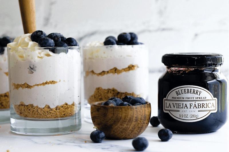 Healthy Blueberry Cheesecake Jar