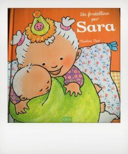 """Cover del libro """"Un fratellino per Sara"""""""