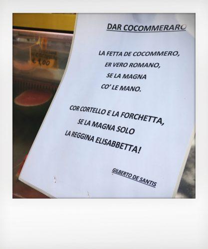 """Messaggio dei """"cocommerari"""" di Roma"""