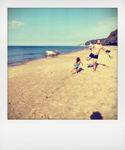 Mare del Gargano con bambini