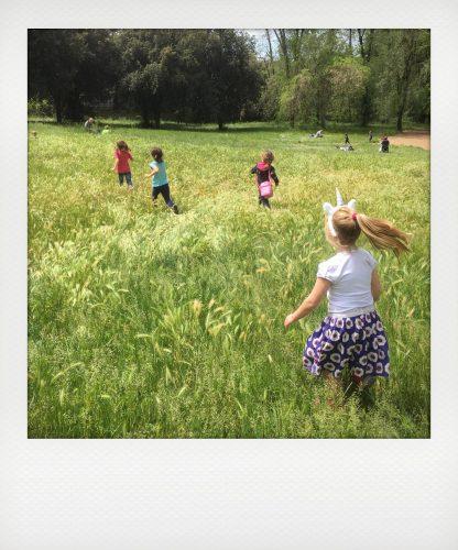 Bambini in un picnic a Roma