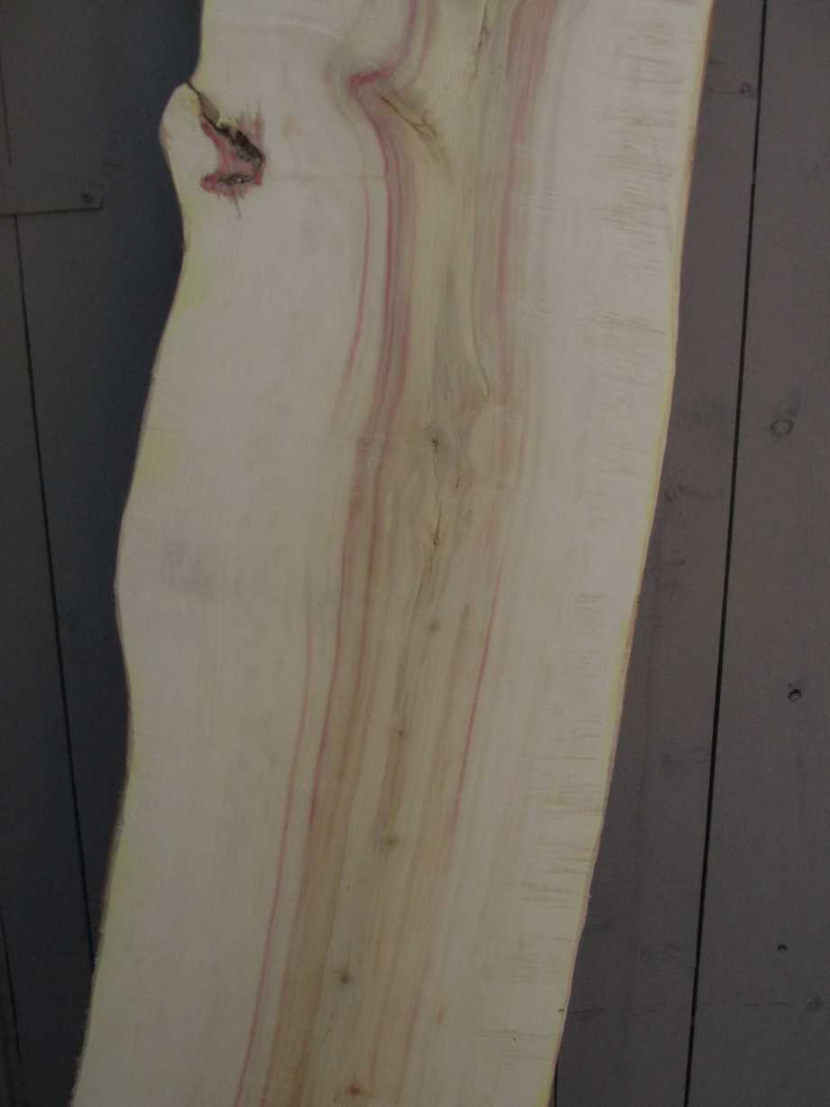 closeup of grain middle section - Spalted Maple wood live edge slab for sale 16 wide by 86 inches long