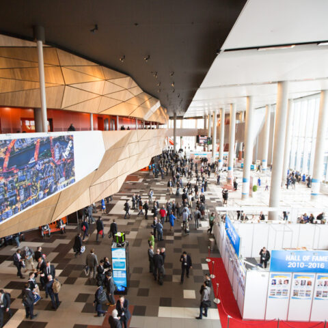 The main foyer of the Convention Centre.