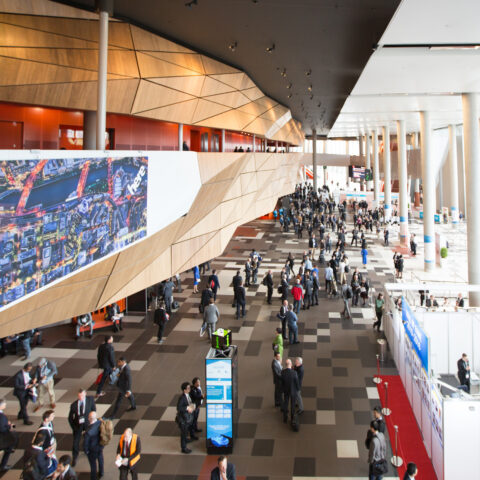 The main foyer, MCEC.