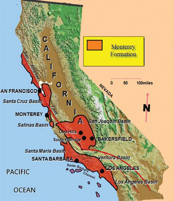 Fracking - monterey shale basin