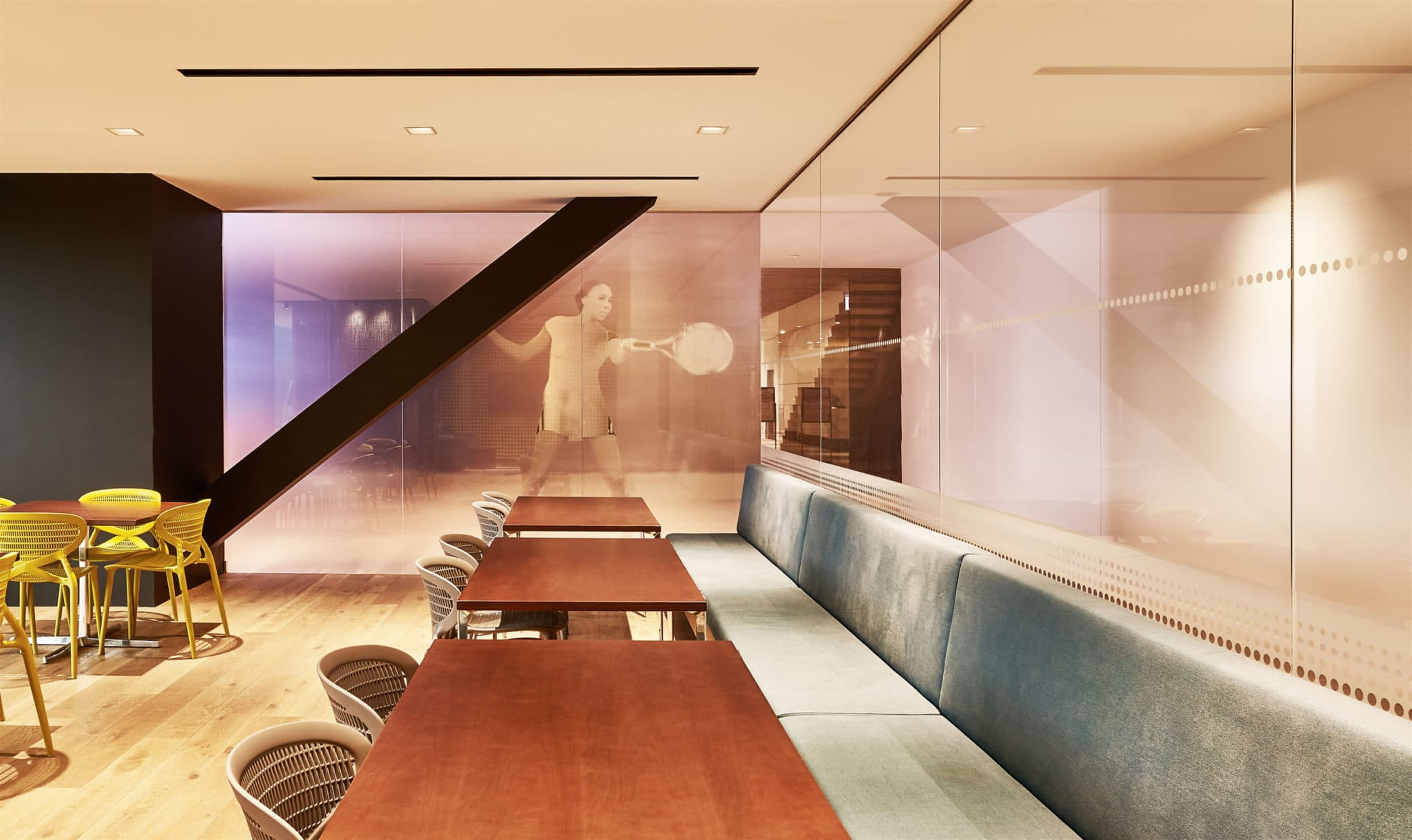 Tennis Lounge at Midtown Athletic Club | Interior Area 2 | Chicago, IL | Hospitality | Interior Designers