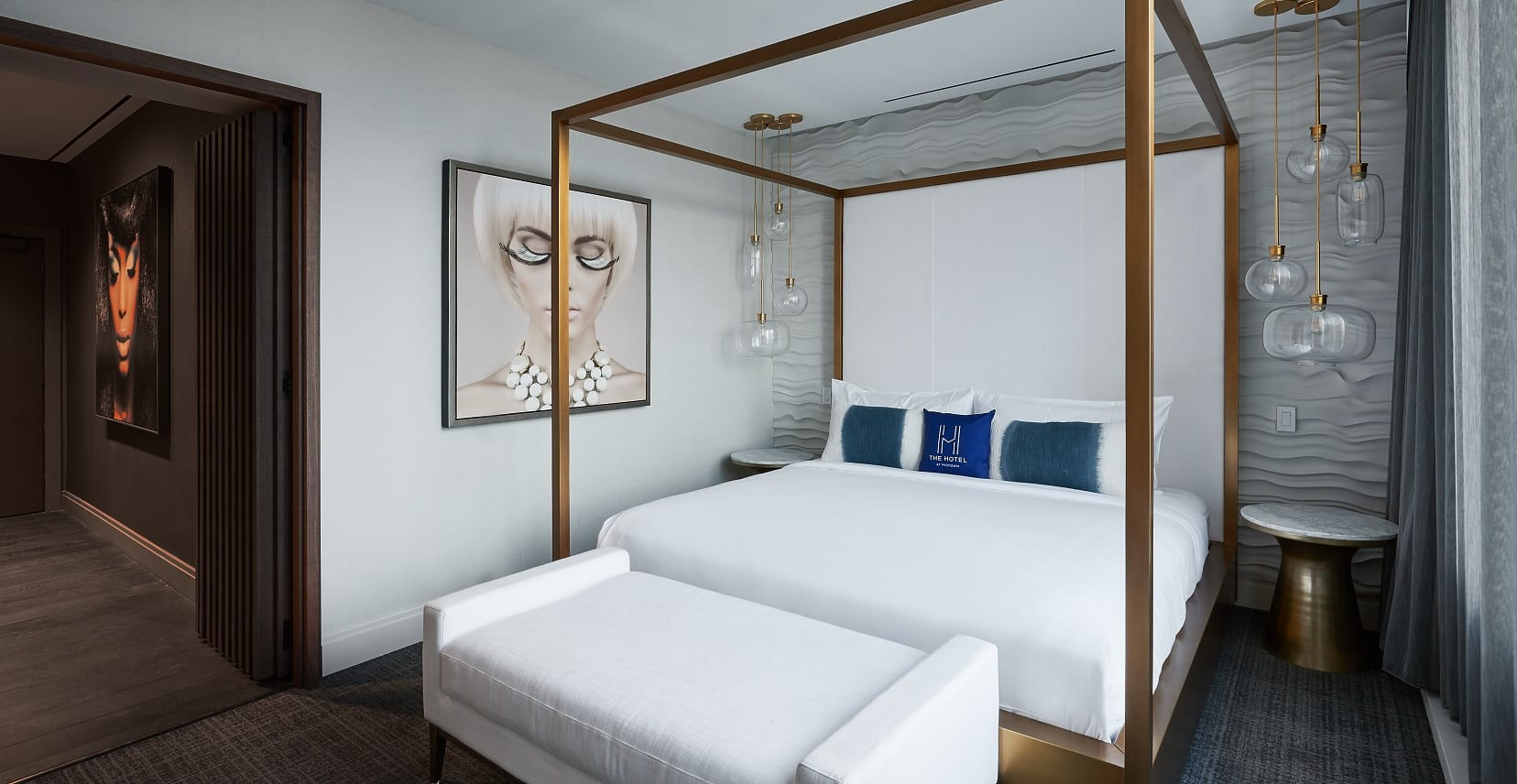 V Suite at Midtown Athletic Club | Bedroom 2 | Chicago, IL | Hospitality | Interior Design