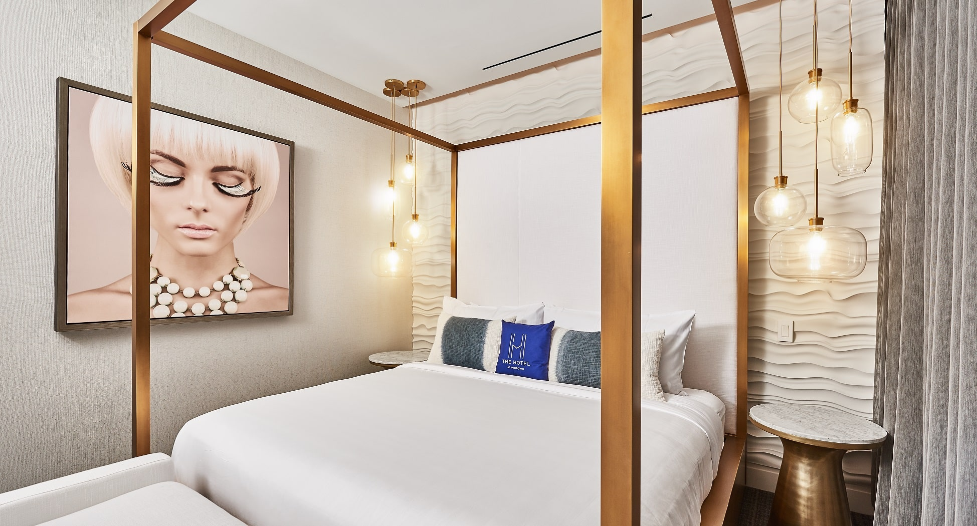 V Suite at Midtown Athletic Club | Bedroom 1 | Chicago, IL | Hospitality | Interior Design