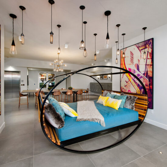 Sofa | Leasing Office | Delray Beach, FL | Multifamily | Interior Designers