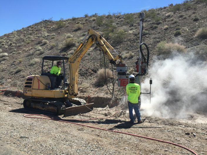 Rock Drilling- Hwy 40