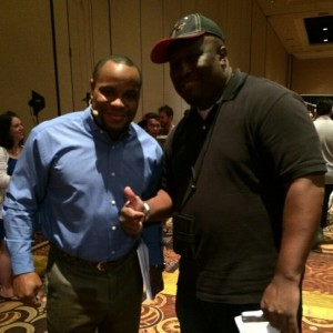 Dan Cormier and our main man hanging out. Photo Courtesy: Kendrick E. Johnson