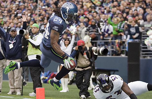 Seahawks RB Marshawn Lynch sent a very clear message to the NFL. Photo Courtesy: Jim Bryant / NW Guardian