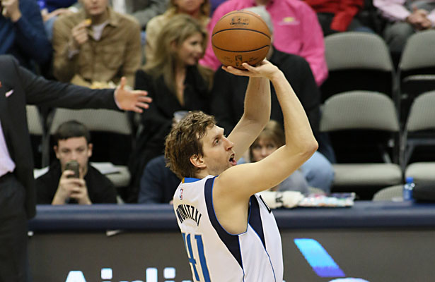 Dirk Nowitzki played in his 13th All-Star game on Sunday. Does he have enough in the tank for a deep playoff run? Photo Courtesy: Dominic Ceraldi