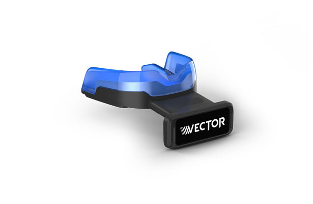 The Vector MouthGuard assist the athletic training staff with not only real-time awareness of forces for further medical evaluation of players, but also for post-event understanding of how those forces affect individual athletes over time. Photo Courtesy: www.MeritMile.com