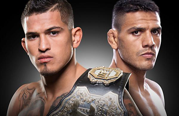Dos Anjos put the pressure on Pettis and never gave him any room to set up.
