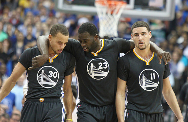 Are the Golden State Warriors truly destined to win the Larry O'Brien trophy this season? Photo Courtesy: Michael Kolch