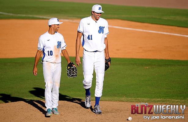 The Big German tries his hand at baseball for a good cause. Photo Courtesy: Joe Lorenzini