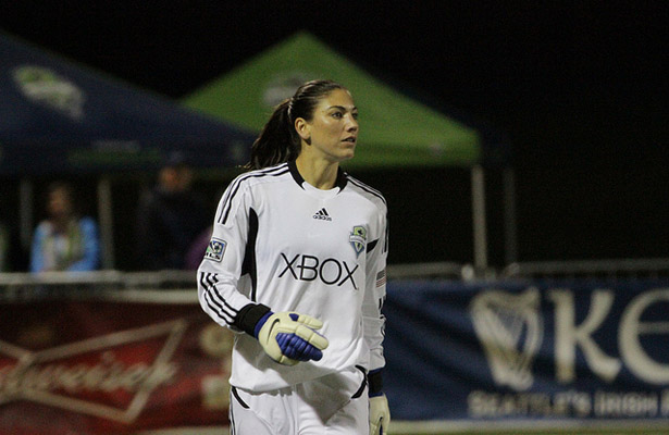 Goaltender Hope Solo and the rest of the USA Women's Soccer team take on their toughest match of the tournament against number one ranked Germany. Photo Courtesy: EvilDan2