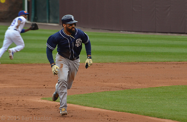 The San Diego Padres know that Matt Kemp can get on base, but they're hoping he'll find his power stroke soon. Photo Courtesy: Bart Hanlon