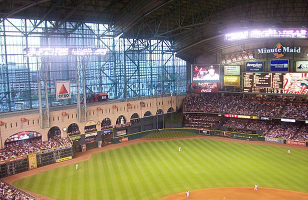 Opened on April 7, 2000 as Enron Field, the currently named  Minute Maid will say good bye to Tal's Hill at the end of the 2015 season. Photo Courtesy: Elsapo