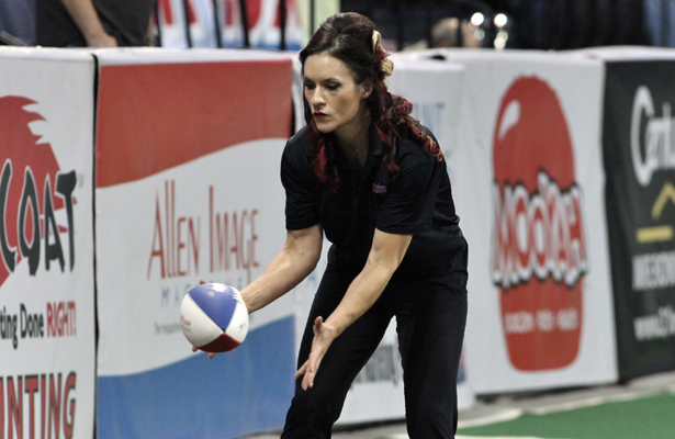 Dr. Jen Welter is used to knocking down barriers and is now the first woman to coach in the NFL. Photo Courtesy: Dominic Ceraldi