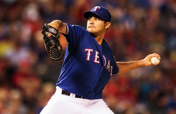 Martin Perez made his long-awaited 2015 debut last Friday in Houston, he'll need to keep the ball down for his next start against the Rockies. Photo Courtesy: Darryl Briggs