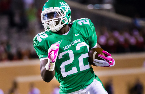 For the Mean Green offense to be effective, RB Antoinne Jimmerson needs more than 10 touches for the game. Photo Courtesy: Sandy McAnally