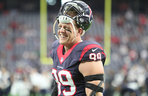 J.J. Watt hopes to be all smiles after the home opener with the Kansas City Chiefs. Photo Courtesy: Rick Leal
