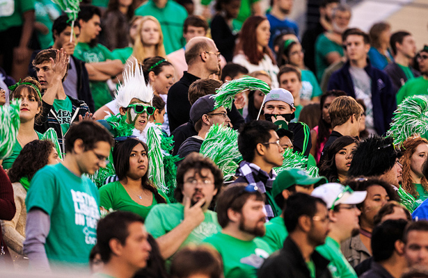 The North Texas Mean Green faithful will be in for a long season if quarterback play from Andrew McNulty doesn't improve quickly. Photo Courtesy: Sandy McAnally