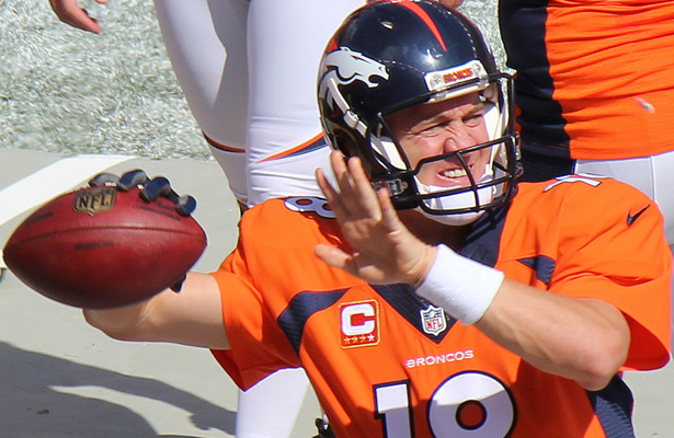 Peyton Manning still has the smarts to win a game even if his arm isn't what it used to be. Photo Courtesy: Jeffrey Beall
