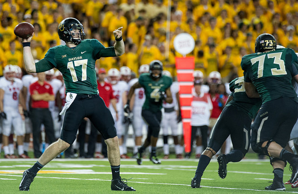 In spite of his four turnovers, Seth Russell still threw for 23 of 34 for 342 yards and four touchdowns on Saturday. Photo Courtesy: Matthew Lynch